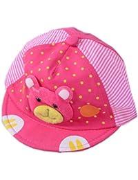 322ff35cbdecd Shop frenzy Pink Teddy Summer Colourful Kid Baby Infant Cap for 0-9
