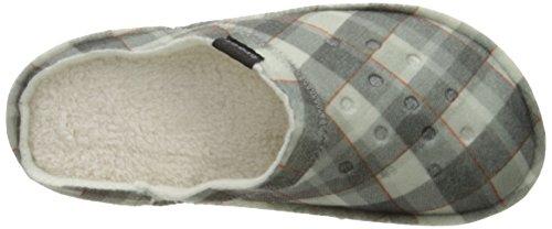 CROCS Chaussures - CLASSIC PLAID SLIPPER - black oatmeal Black Oatmeal