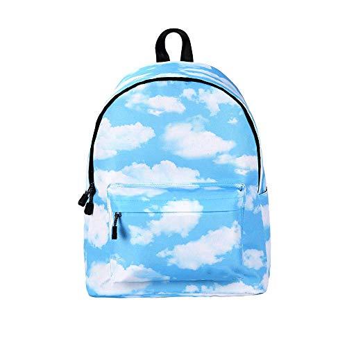 ZXT Paquete de Hombro Doble Fresco Cute Kids School Bookbags para niñas Mochila Ligera Casual Linda Mochilas universitarias Bolso de Viaje de Mochila para Mujer Estampado de Flores