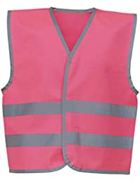 YOKO Hi-vis Reflective Border Kids Waistcoat (HVW102CH) Reflective Border 100% Polyester Fabric with Fastening