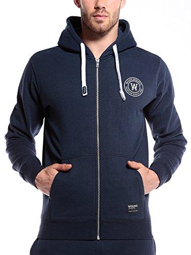 WOLDO Athletic Herren Sweatjacke mit Kapuze Hoodie Kapuzenpullover Pullover Sweatshirt Slim Fit (XL, Gillies / blau)