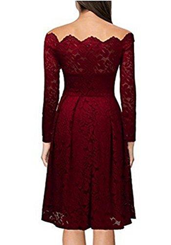 Arkind Robe Femme Robe Longue Sexy Jupe Lace Soirée Jupe Bon Caractère Grand Taille Robe Printemps Ete Nouveau Modèle 2017 Rouge foncé