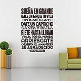 Autocollants Espagnol Se Tu Mismo Vinyle Stickers Muraux Autocollant Mural Mur Art Carrelage Papier Peint Pour Salon Maison Et Maison Décor Dd096 50X70 Noir