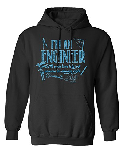 I`m An ENGINEER So To Save Time Lets Assume I`m Right Wahl von Hoodie oder von Strickjacke (Hoodie) Black