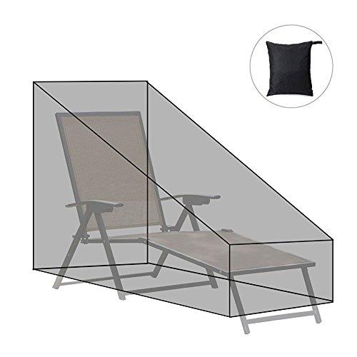BESSERE Abdeckung für Sonnenliege, 200 x 68 x 40-70 cm, Outdoor-Liegenabdeckung, wasserdichter...