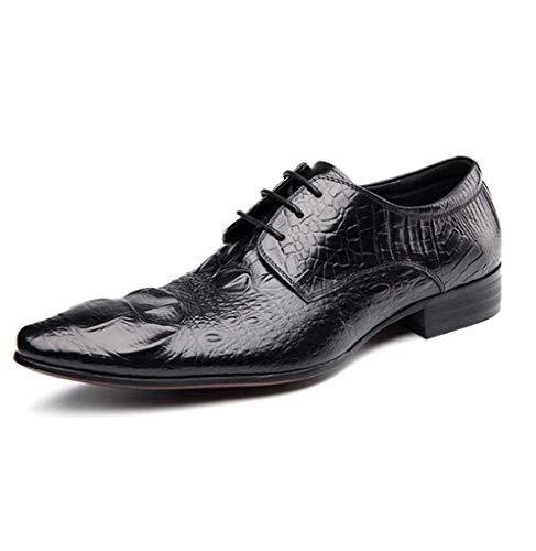 Oxford Kleid Schuhe für Männer - Business Casual Schuhe - Classic Tuxedo Herrenschuhe Rot Schwarz,Black,38 (Tuxedo Classic)