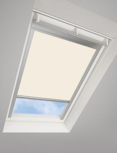Tende avvolgibili da tetto darkona ® per le finestre da tetto velux - tenda avvolgibile oscurante - molti colori / molte dimensioni (c04, crema) - telaio in alluminio argento