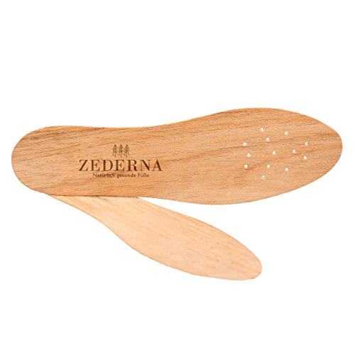 Zederna Zedernsohlen, Zedernholzsohlen gegen Schweißfüße, Fußgeruch & Schuhgeruch. 100% natürlich und ohne Chemie, effektiv gegen Fußpilz, Nagelpilz
