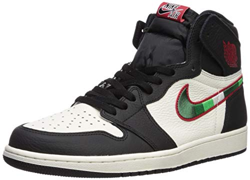 Nike Herren Air Jordan 1 Retro High Og Fitnessschuhe, Mehrfarbig (Black/Varsity Red/Sail/University Blue 015), 44 EU