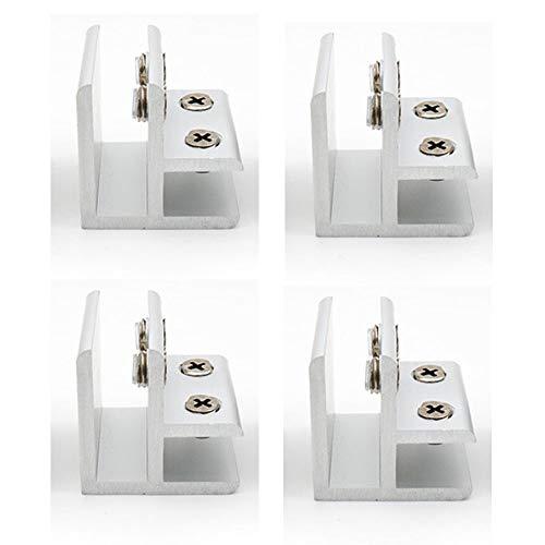 Set mit 4 NUZAMAS 90 ° Glasklemmen, Glas-zu-Glas-Halter, Verbindungsglasklemme an zwei Seiten, Dusche, Tische, Platten, Klemmung 10-12 mm - 4 Seiten Glas