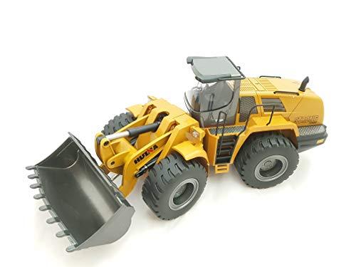 FM 1583 | Ferngesteuerter Metall Radlader mit 2 Akkus mit voller Funktion, Bagger mit Fernsteuerung, ferngesteuert mit Akku und Ladegerät