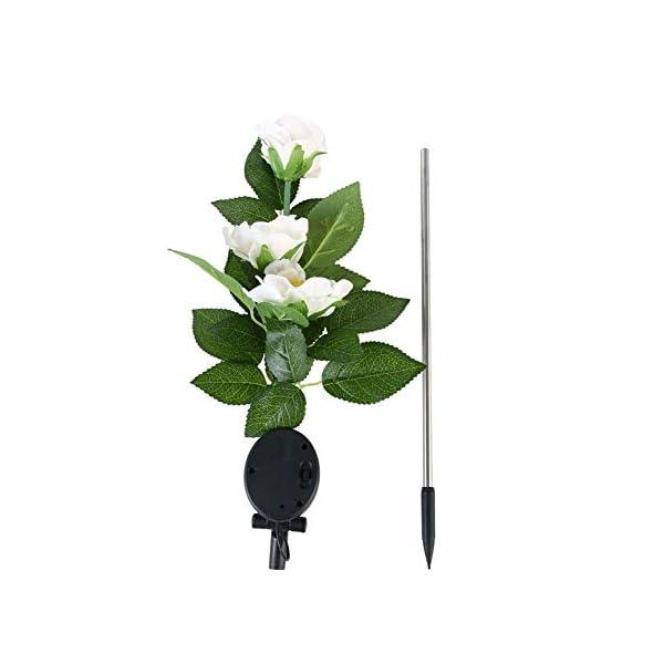 zmigrapddn – Estaca de luz solar de ahorro de energía para exteriores, jardín, camelia, flor, lámpara LED de decoración…