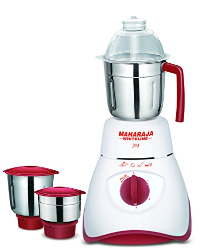 Maharaja Whiteline Joy Happiness 550-Watt Mixer Grinder (Red/White)  available at amazon for Rs.2049