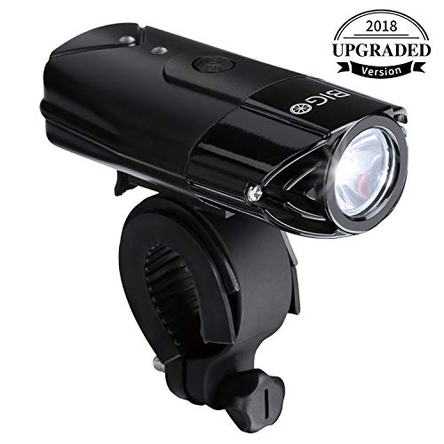 Lampe de vélo rechargeable USB BIGO Lampe de vélo LED Torche frontale étanche pour vélos 3 Modes d'éclairage, 900 LM