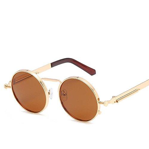 Aoligei Europe et États-Unis Prince miroir rond couleur film lunettes de soleil printemps jambe tendance de la mode des lunettes de soleil Sungl Asses dncua
