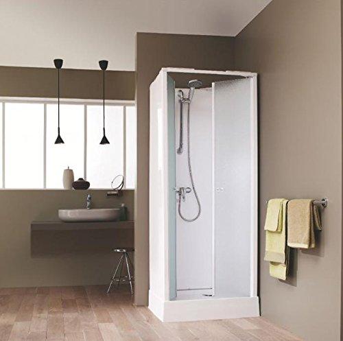 Cabine de douche SURF IV carrée 70x70cm, installation en angle, milieu de mur ou encastrée, équipement Confort, avec mit