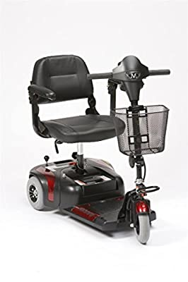 Drive Medical Prism 3 Mini Class 2 Portable 3 Wheel Mobility Scooter - Red