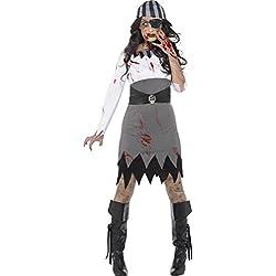 Smiffy 's–Disfraz de mujer de Halloween Zombie Pirate Lady (x1)