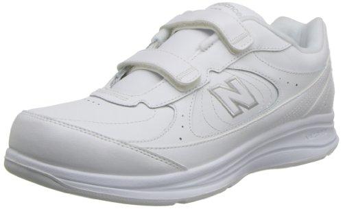 New Balance uomo MW577Leather Hook-And-Loop Walking shoe White (VW)
