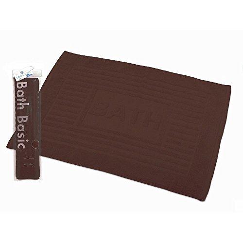 Alfombra para baño algodón marrón chocolate (45x65)