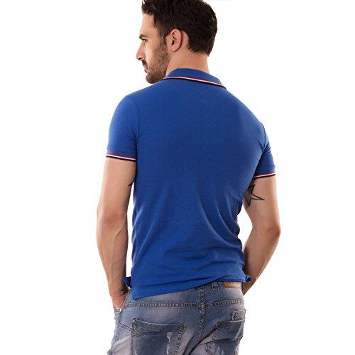 Toocool Herren Poloshirt Blu elettrico