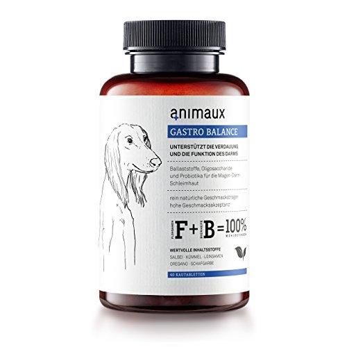 animaux® - gastro balance für Hunde | Magen-Darm-Unterstützung | Bierhefe, Leinsamen, Fenchel und Salbei | 40 Tabs