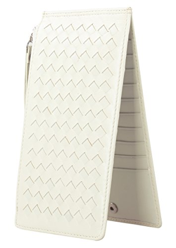 lh-saierlongr-womens-woven-sytle-zipper-wallet-off-white-sheepskin-wallets
