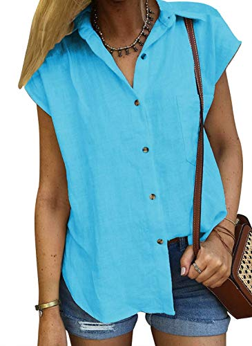 Bobopai Vest for Women Print Casual Loose Sleeveless Crew Neck Sport Pullover Tunic Blouse Shirts Tank Tops - 17 Womens V-neck T-shirt