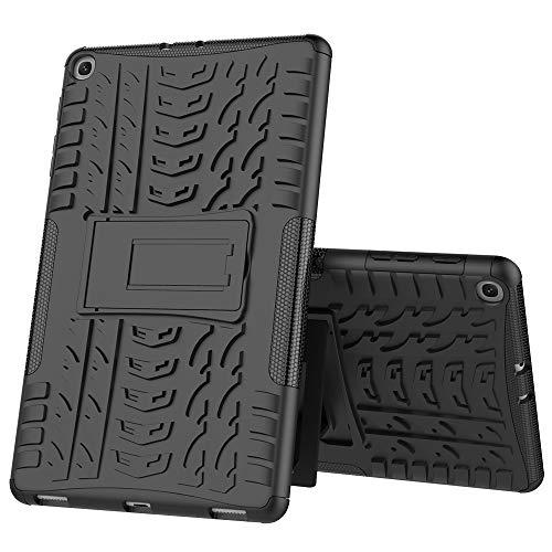 GH Schock-Beweis Dual Layer Hybrid Rüstung Hülle Für Samsung Galaxy Tab A 10.1 2019 T515, [Heavy Duty Protection] [Dual Layer] Hart Silikon Haut Hybrid Kickstand Tasche/Schutzhülle -