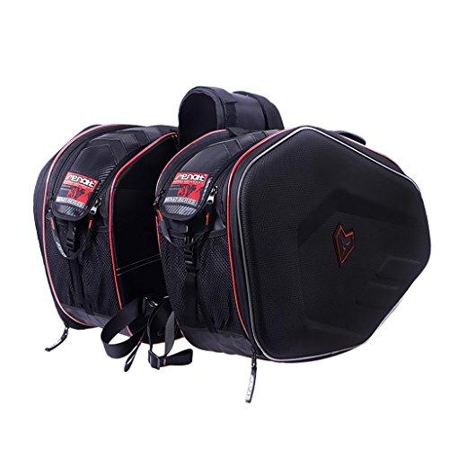 Sharplace 2 Stücke Gepäck Satteltaschen Motorradgepäck mit Wasserdichte Abdeckungen