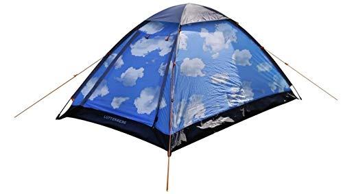 Pop Up Zelt Wurfzelt Camping Strand Automatikzelt 1 2 Personen NEU blau mit Himmel für Kinder & Erwachsene Festivals