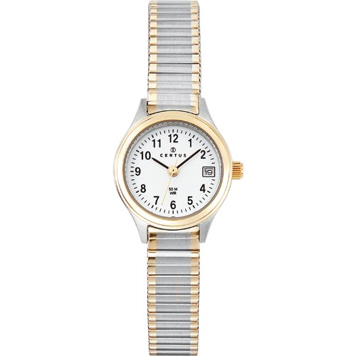 Certus - 622549 - ladies watch - analogue quartz - white dial - two-tone metal strap
