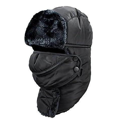 Hiver Chapka Ear Flap Trappeur Bomber Casquettes Bonnets Chapeaux Garder Chaud Patinage Ski Autres Activités en Plein Air