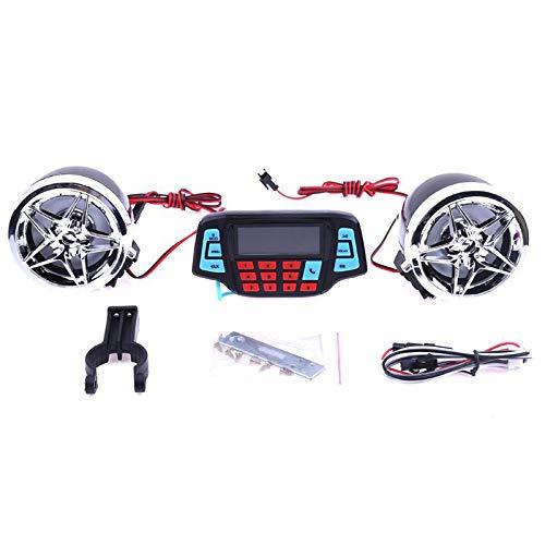 TOOGOO Motorrad Alarm Audio Sound System Stereo Lautsprecher Fm Radio Mp3 Music Player Roller ATV Fernbedienung Alarm Lautsprecher Roller