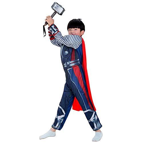 WSX Boy Thor Cosplay Kostüm Anime Show Kostüm Mit Maske, Sound Flash Hammer Und Mantel Cosplay - Thor Kostüm Boy