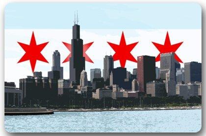 (Jiayou J Flag of The City of Chicago Chicago Flag Non-Slip Entryways Rectangle Indoor/Outdoor Rectangle Floor Mat Doormat - 23.6