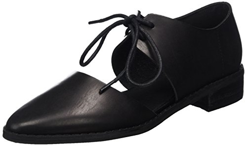 Bianco Damen Open Laced Shoe 25-49109 Oxford Schwarz (Black)
