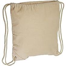 Mark Richards tela cordón mochila 14.5-Inch X 13.5-inch-natural