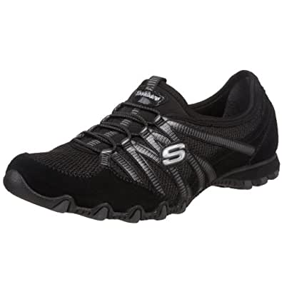 Skechers Bikers Hot-Ticket, Damen Sneakers, Schwarz (BKCC), 35 EU