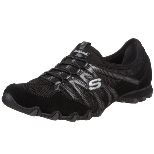 Skechers Bikers Hot-Ticket 21159, Sneaker donna, Nero (Schwarz (BKCC)), 37