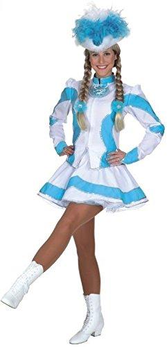 O9661-40 türkis-weiß Damen Funkemariechen-Tanzmariechen Kostüm-Uniform -