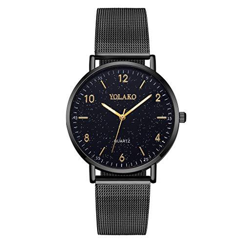 Damen Herren Damenuhr, Nourich Zeitloses Zeitloses Design Armbanduhr Uhren Armbanduhren Sportuhr Uhr Analog Quarzuhr mit Edelstahl Armbänder Frauen Smart Watch Geschenk Strap Strap Schmuck (schwarz)