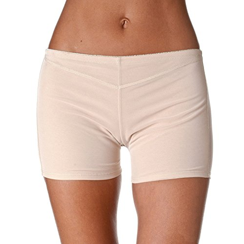 MOONIGHT Donna controllo Panty Shapewear Butt Lifter Guêpière Magic Ragazzo Corto apricot