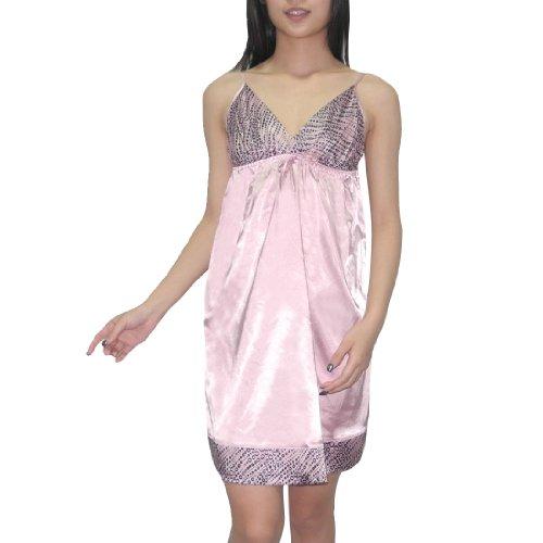 Silk Couture Damen Sexy Wunderschöne Nachtwäsche Kleid / Nightgown S-M Pink (Couture Nachtwäsche)