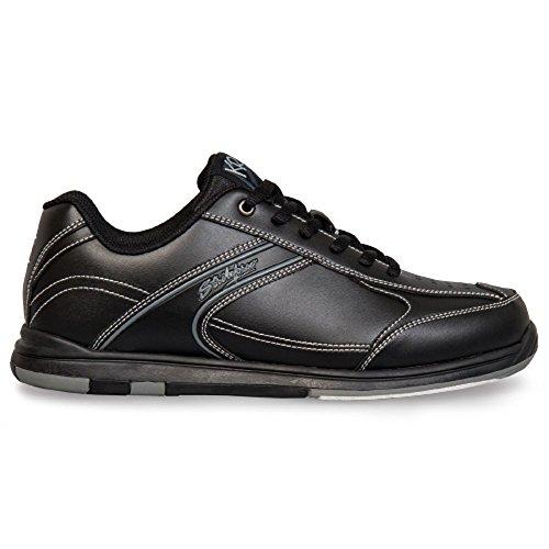 KR Strikeforce Flyer Bowling-Schuhe Damen und Herren, für Rechts- und Linkshänder in 4 Farben Schuhgröße 38-48 mit Schuh-Deo Titania Foot Care Schwarz