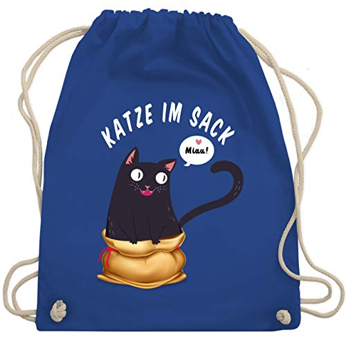 Turnbeutel - Katze im Sack - Unisize - Royalblau - WM110 - Turnbeutel & Gym Bag