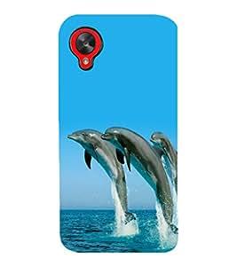 printtech Nature Water Dolphin Back Case Cover for LG Google Nexus 5::LG Google Nexus 5 (2014 1st Gen)