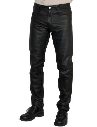 Roleff Racewear klassische Lederhose, Schwarz
