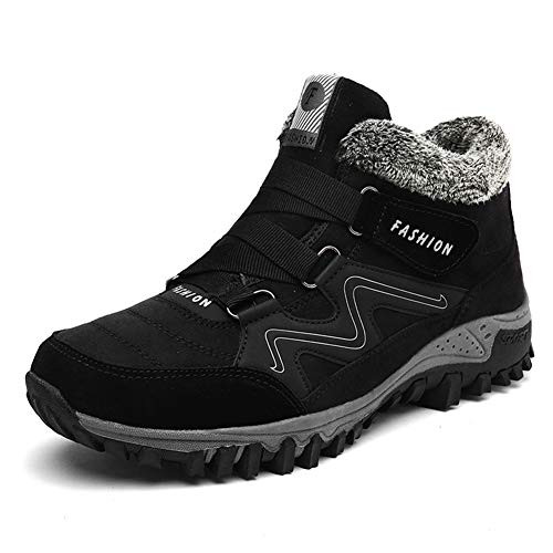 Anokar Winterschuhe Herren Damen Schneestiefel Warm Gefütterte Stiefel Trekking Hiking Winter Boots Wanderschuhe Outdoor Schwarz Grau Lila Gr.35-46 BK43