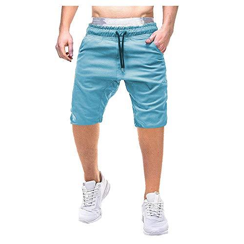 Color Button-Pocket Cargo Shorts Arbeitshose Freizeithose Kampfhose Kurze Drawstring Hosen Sommer ()